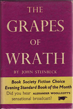 Steinbeck, John. The Grapes of Wrath. London, Heinemann, 1939
